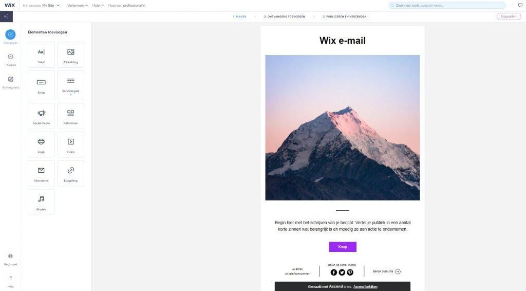 email marketing wix